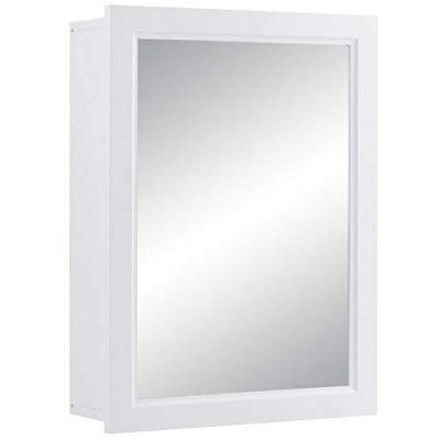 Mirror Medicine Cabinet W/Single Door and Inner Adjustable Shelf