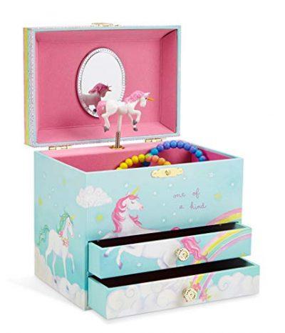 Unicorn and Rainbow Musical Jewelry Box