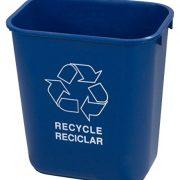 Carlisle Plastic Recycle Deskside Wastebasket
