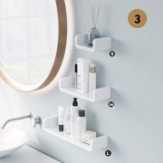 Laigoo Adhesive Floating Shelves Non-Drilling, Set of 3