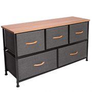 Vogga Dresser with 5 Drawers, Fabric Dresser Storage Tower
