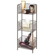 Decorative Metal Storage Organizer Tower Rack