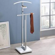 Metal & Wood Suit Valet Stand, Clothes Rack
