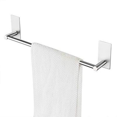 Bathroom Towel Bar Brushed Self Adhesive