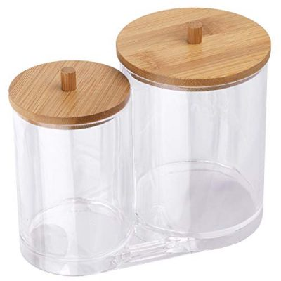 Tbestmax Cotton Swab Pads Holder, Cotton Buds Qtip Dispenser