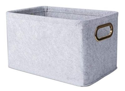 Foldable Felt Fabric Storage Basket Storage Bins