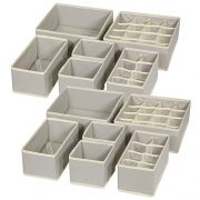 TENABORT 12 Pack Foldable Drawer Organizer Dividers