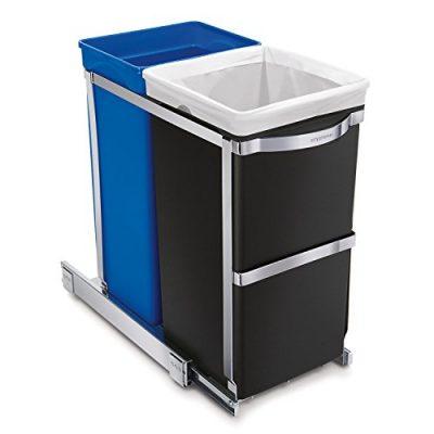 simplehuman 35 Liter / 9.3 Gallon Dual Compartment