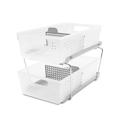Organizer Bath Collection Slide-out Baskets with Handles
