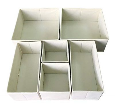Foldable Cloth Storage Box Closet Dresser for Underwear, Bras, Socks