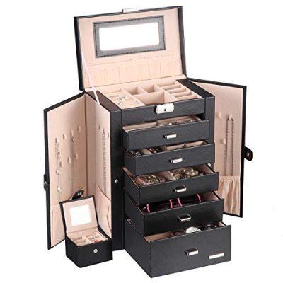 Homde 2 in 1 Huge Jewelry Box/Organizer/Case