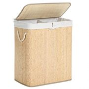 SONGMICS Double Laundry Hamper with Lid