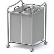 2-Bag Heavy Duty Rolling Laundry Sorter Cart
