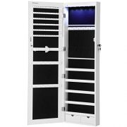 "SONGMICS 47.2"" H Full Screen Mirrored Jewelry Cabinet Armoire"