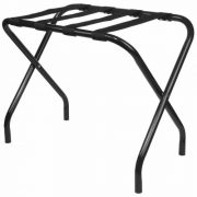 King's Brand Furniture-Black Metal Foldable Luggage