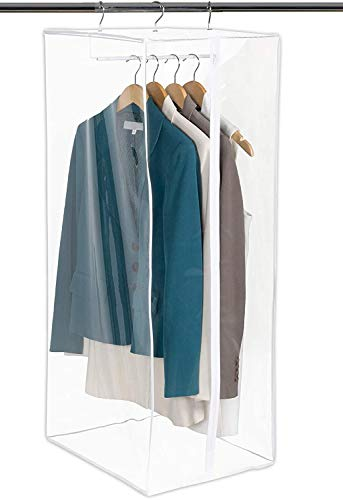 Clear Hanging Closet Organizer Durable Zippered Cover