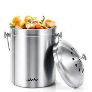 Abakoo Stainless Steel Compost Bin - 1.3 Gallon