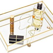 CHICHIC Gold Mirror Tray Jewelry Organizer Vanity Tray Jewelry