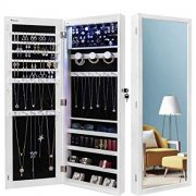 Nicetree 6 LEDs Jewelry Armoire Organizer