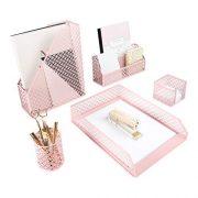 Blu Monaco Office Supplies Pink Desk Accessories for Women