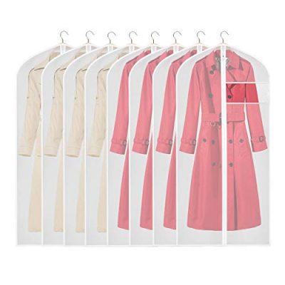 KEEGH Clear Garment Bags Long Dress Jacket Cover