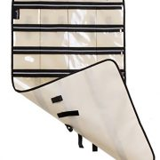 MISSLO Zippered Jewelry Organizer Hanging For Travel