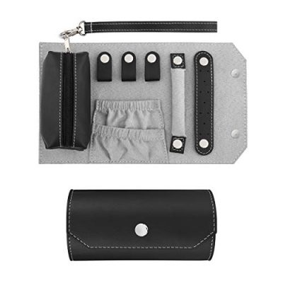 Leather Jewelry Organizer Holder Roll Bag