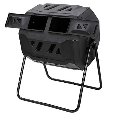 Dual Chamber Large Composting 43 Gallon
