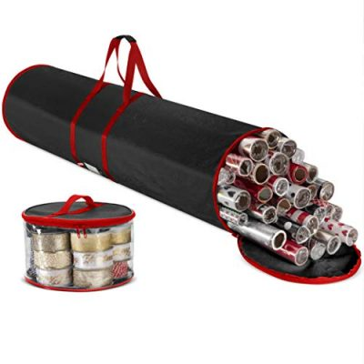 Premium Christmas Wrapping Paper Storage Bag