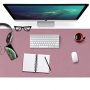 Purple/Pink Leather Desk Pad Dual Sided