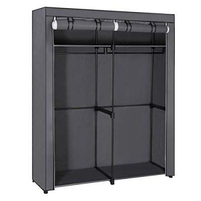 Closet Storage Organizer Portable Wardrobe with Hanging Rods