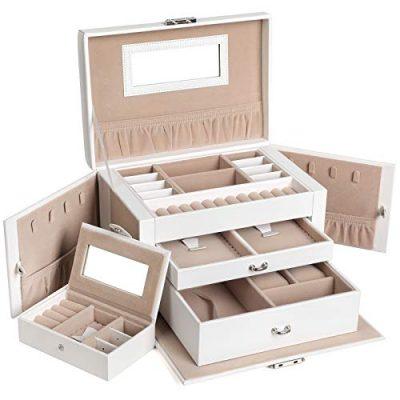 SONGMICS Jewelry Box for Women, Jewelry Organizer
