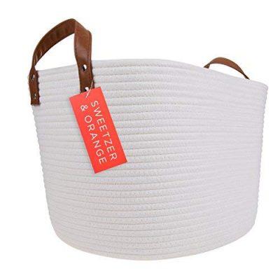 Cotton Rope Storage Basket Blanket, Laundry, Toy Storage