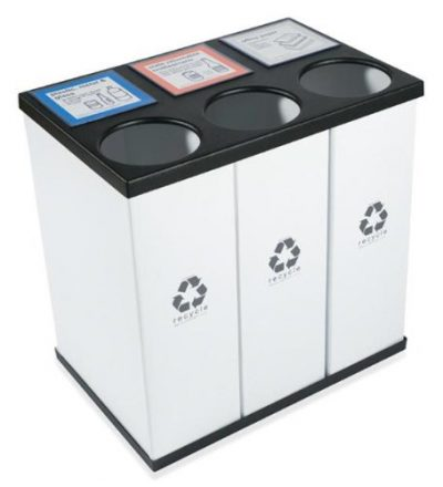 Plastic Light Weight Large Triple Recycling Bin