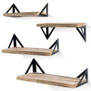Rustic Wood Wall Shelves, Storage Shelves for Bedroom