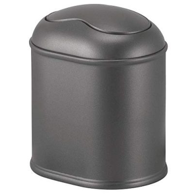 Mini Wastebasket Trash Can Dispenser with Swing Lid