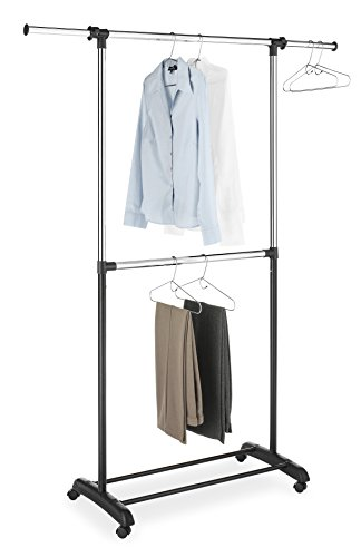 Whitmor Adjustable 2-Rod Garment Rack