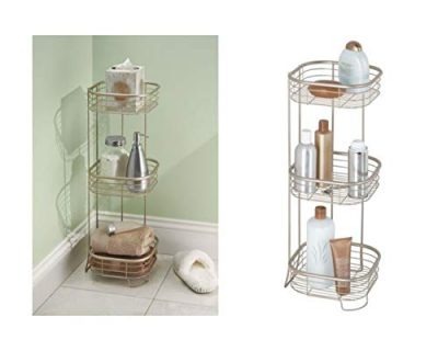 iDesign Forma Metal Wire Corner Standing Shower Caddy