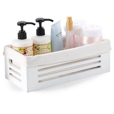 Wooden Storage Bin Toilet Paper Basket Storage - Decorative Vanity