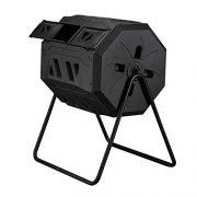 Composting Tumbler 42 Gallon Capacity with 2 Chambers Dual Rotating