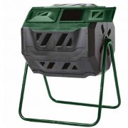 Dual Chamber Composter On Two-Leg Stand