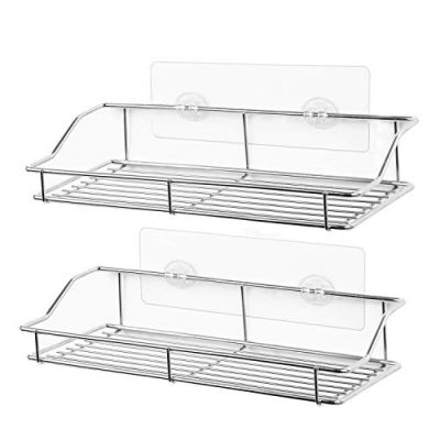 SMARTAKE 2-Pack Shower Caddy, Adhesive Bathroom Shelf Wall Mounted