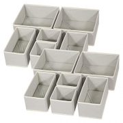 DIOMMELL 12 Pack Foldable Cloth Storage Box Closet