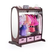 Armoire with Rack, Toy Bins and Full Mirror