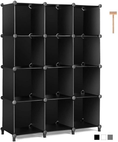 Organizer for Bedroom Book Shelf 12-Cube