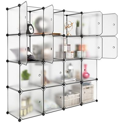 Storage Cube Organizer Plastic Cubby Shelving Drawer Unit