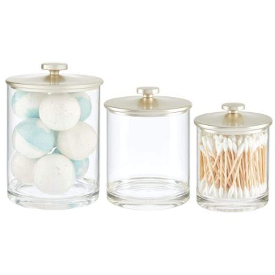 Countertop Storage Organizer Apothecary Canister Jar