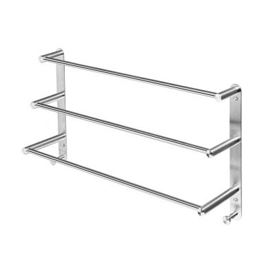 24-Inch Stainless Steel Wall Towel Rack for Bathroom
