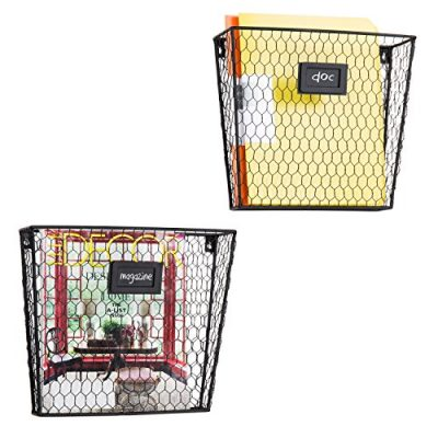 MyGift Rustic Chicken Wire Wall-Mounted, Home Office