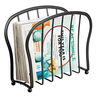 mDesign Decorative Metal Wire Magazine Holder, Organizer